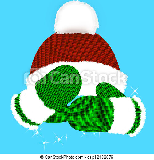 Winter Hat And Mittens Clip Art Winter. mittens. hat. holiday