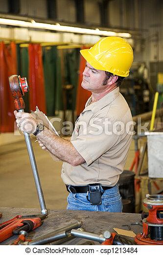 säkerhet, inspektion, fabrik - csp1213484