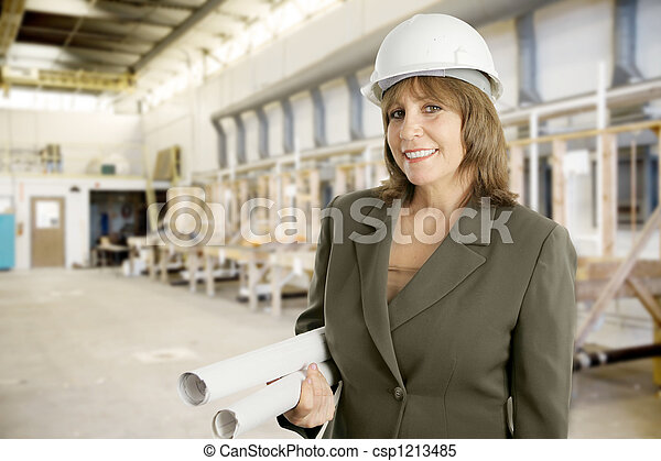 Female Engineer in Factory - csp1213485