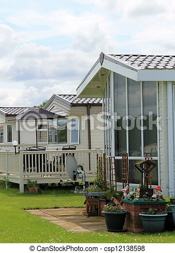Mobile homes in trailer park - csp12138598