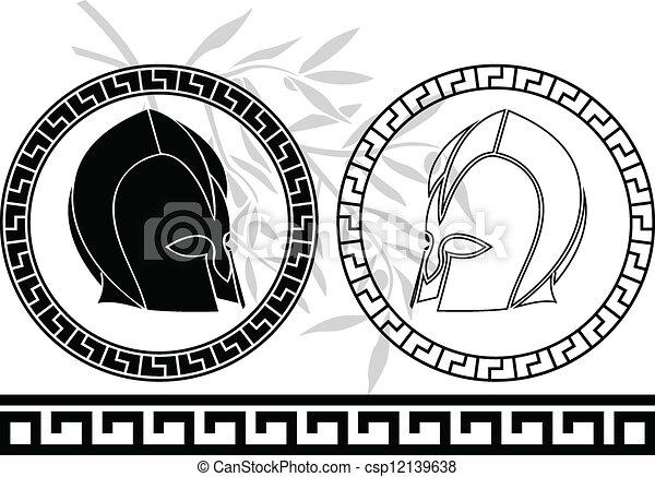 fantasy ancient helmets - csp12139638