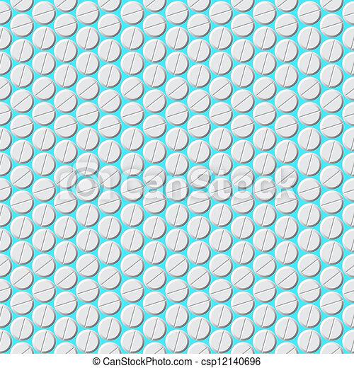 Medical pills pattern, vector illustration - csp12140696