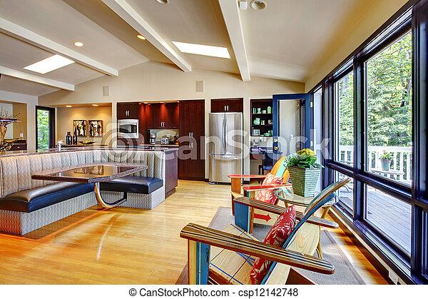 Photo De Ouvert Moderne Luxe Maison Int 233 Rieur Vivant