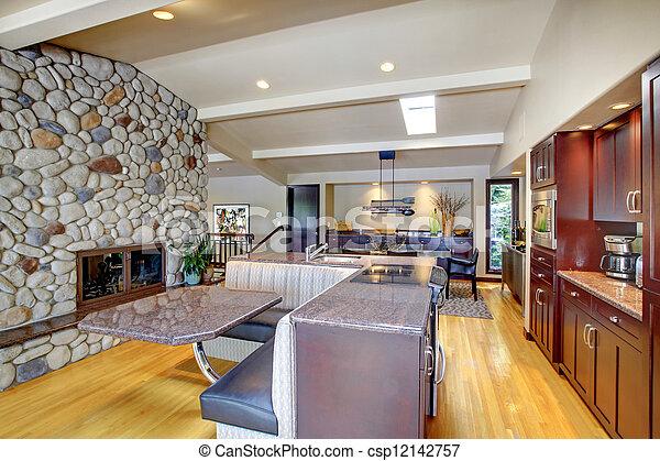 images de pierre moderne luxe mohogany meubles fireplace csp12142757 recherchez des. Black Bedroom Furniture Sets. Home Design Ideas