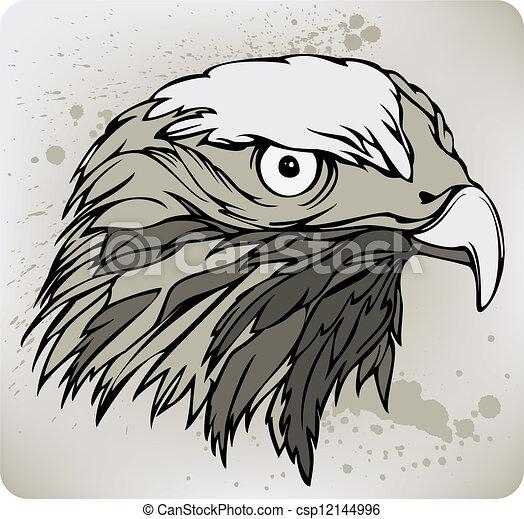 Vecteurs eps de illustration dessin buse main vecteur - Dessin de faucon ...