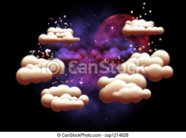 Fantasy night sky - csp1214628