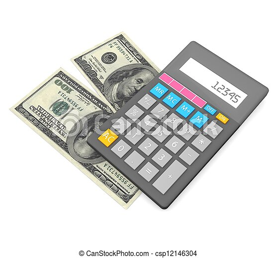 3d Accounting concept  - csp12146304