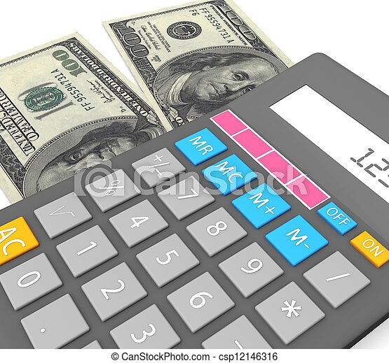 3d Accounting concept  - csp12146316