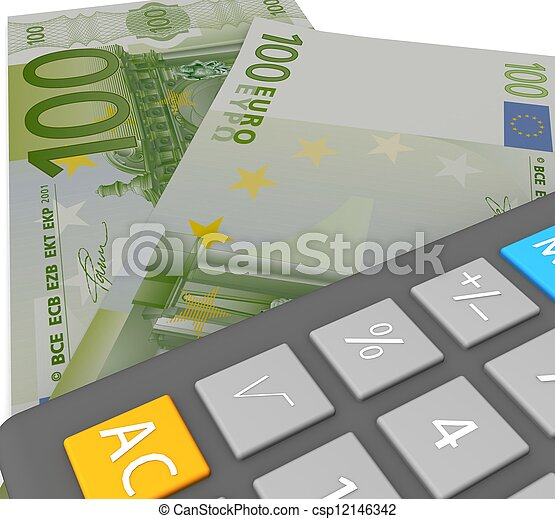 3d Accounting concept  - csp12146342
