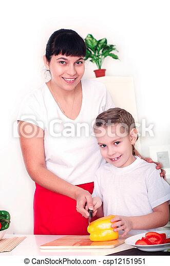 images de maman fille cuisine ensemble m re fille cuisine csp12151951 recherchez. Black Bedroom Furniture Sets. Home Design Ideas