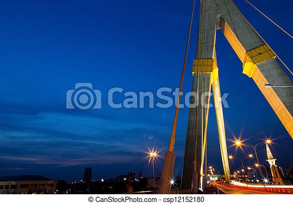 Bridges and roads in the evening. - csp12152180