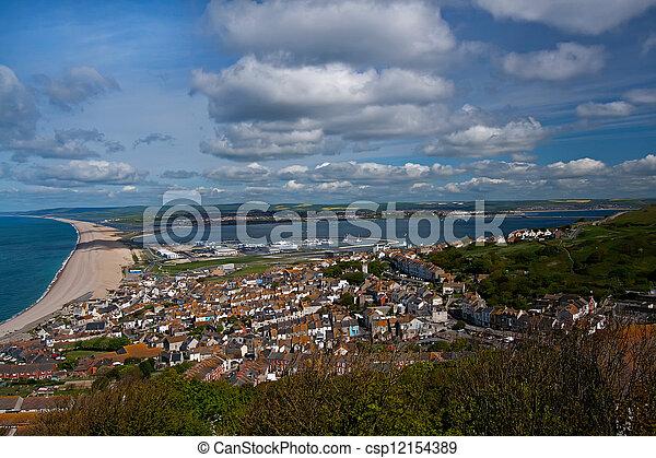 View over Portland In Dorset. - csp12154389