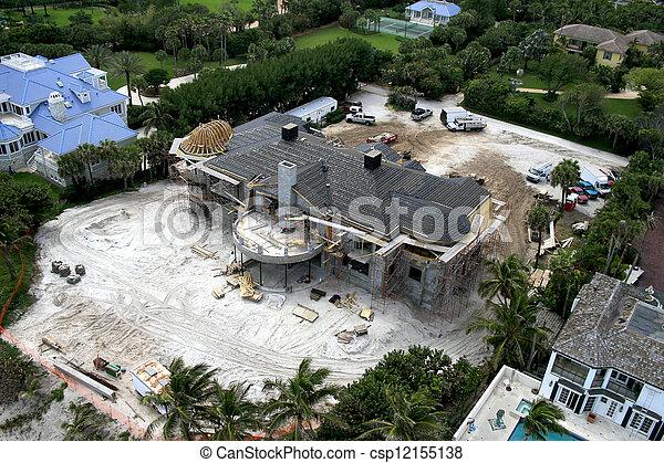 océan,  construction, paradis, sous - csp12155138