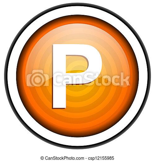 park orange glossy icon isolated on white background - csp12155985