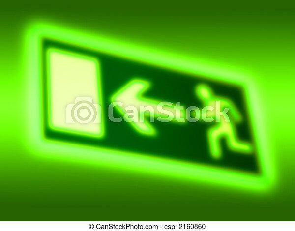 Emergency exit symbol background - csp12160860