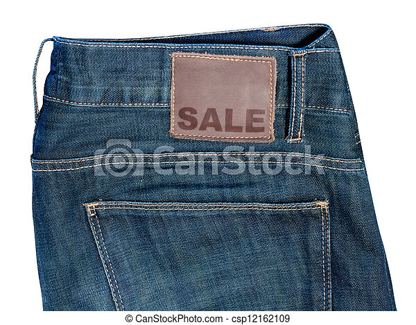 Jeans with Sale Sign - csp12162109