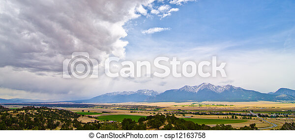 Rural Farming Valley in Colorado - csp12163758