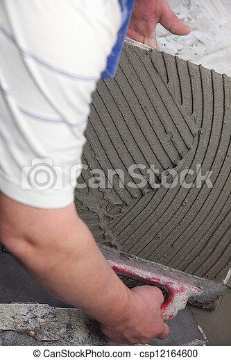Archivi fotografici di adesivo piastrellista pavimento lavoro bonding csp12164600 cerca - Offerte di lavoro piastrellista ...