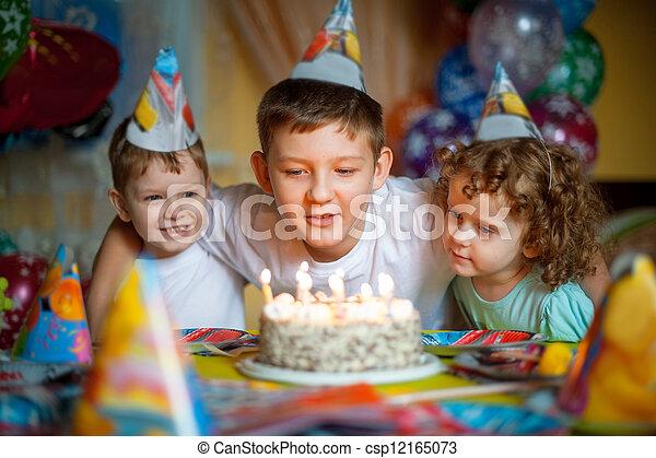 children celebrate birthday