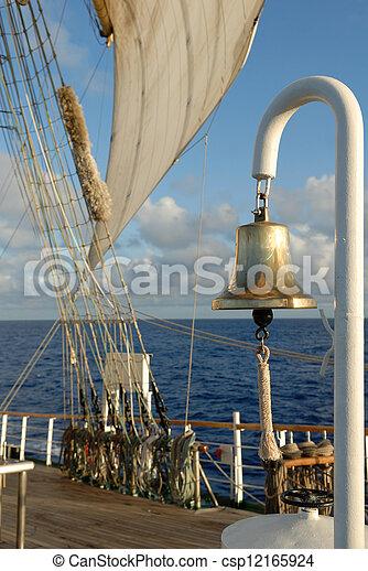 Details of a sailing ship - csp12165924