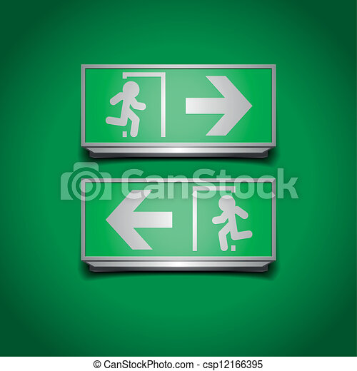 emergency exit signs - csp12166395