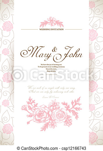 Wedding invitation card  - csp12166743