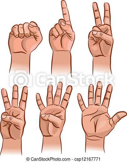 Numbers on the fingers - csp12167771
