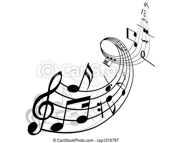 musical notes - csp1216787