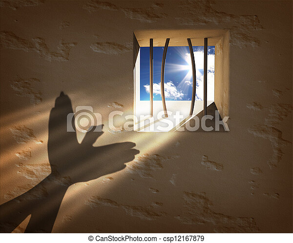 Freedom concept. Escaping from the prison - csp12167879
