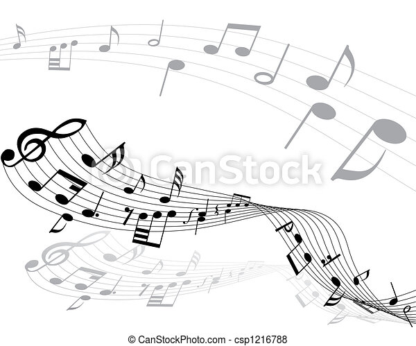 musical notes - csp1216788