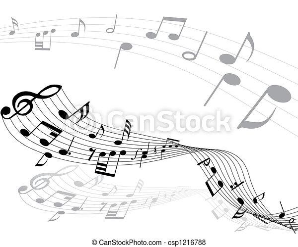 musical notes - csp1216788