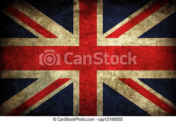 vintage uk flag - csp12168055