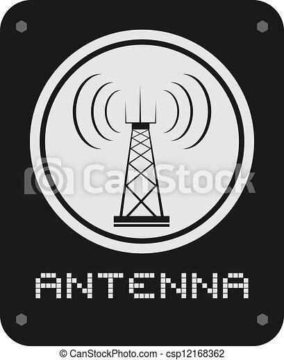 Antenna icon - csp12168362