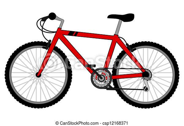 Vectors Illustration of Red bike