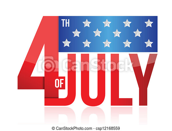 4th of july sign illustration desig - csp12168559