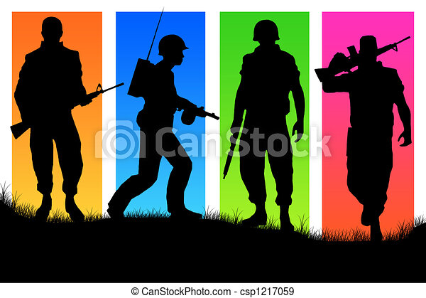 Four soldiers - csp1217059