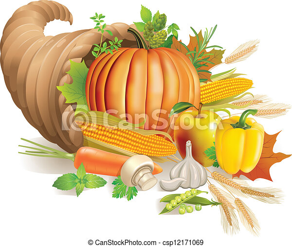 Cornucopia Clipart and Stock Illustrations. 1,054 Cornucopia ...