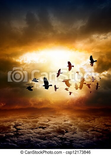 Dramatic nature background - csp12173846