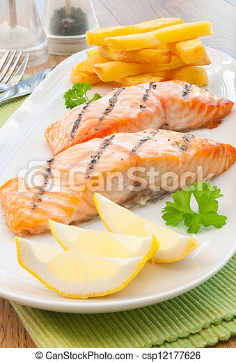 Fish and chips - csp12177626