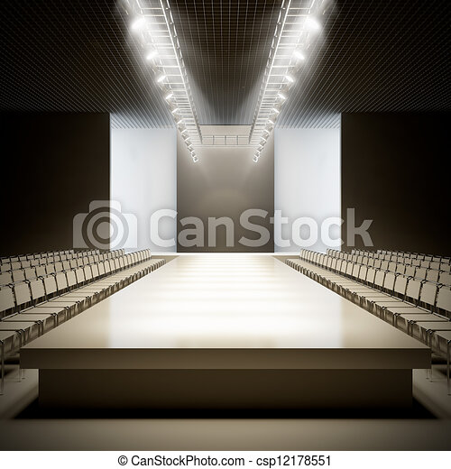 Fashion empty runway. - csp12178551