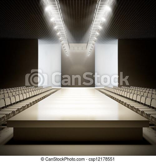 Fashion empty runway. - csp12178551