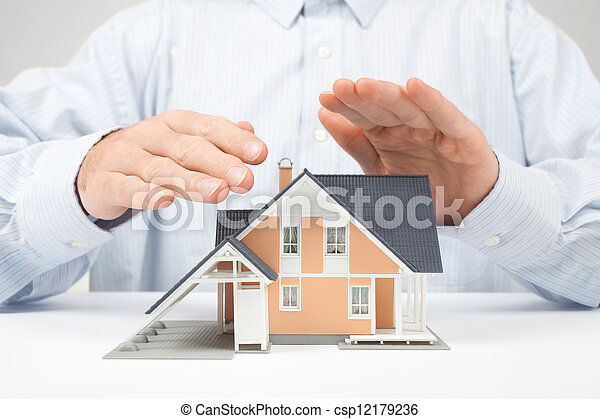 Protect house - insurance concept - csp12179236