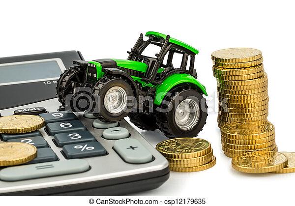 contabilidad, coste, Agricultura - csp12179635