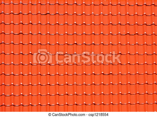 background made of roofing tiles - csp1218554