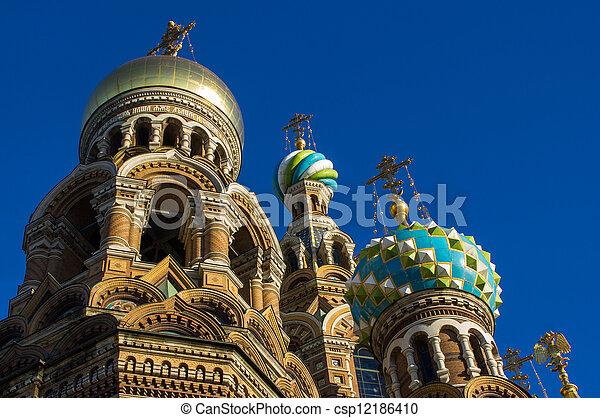 Church of the savior on blood - csp12186410