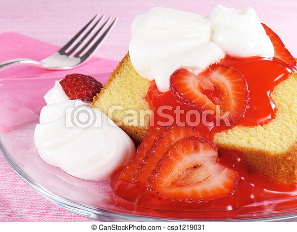 Pound Cake With Strawberries - csp1219031