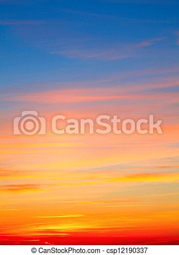 cielo, Plano de fondo - csp12190337