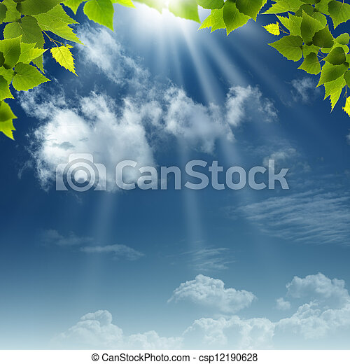 Under the blue skies. Abstract natural backgrounds for your design - csp12190628