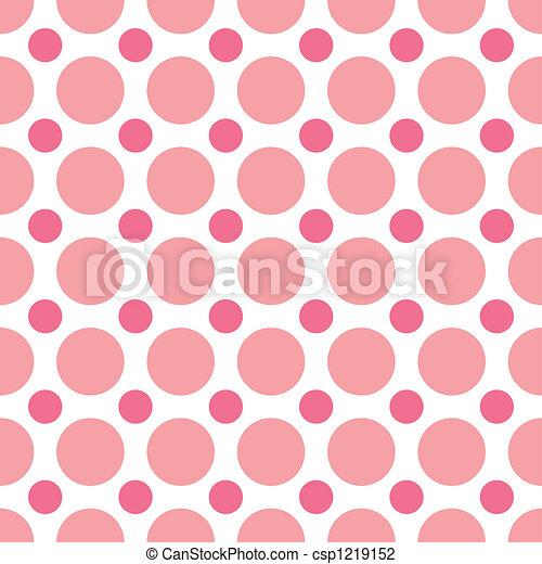 Pink Polka Dots - csp1219152