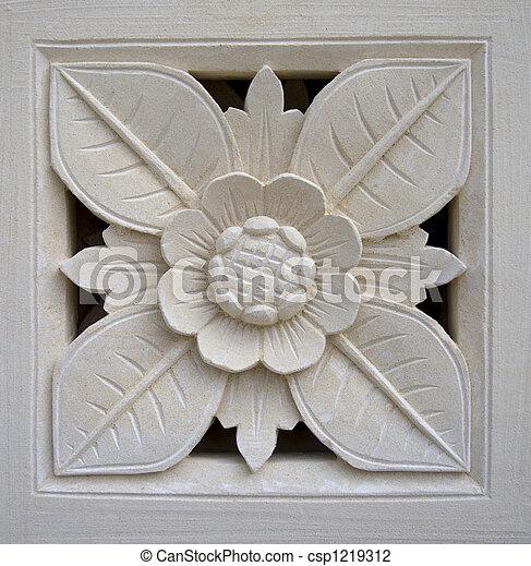 Bali stone carving - csp1219312